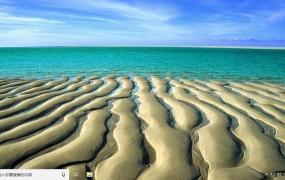 美丽的海滩 Win10主题