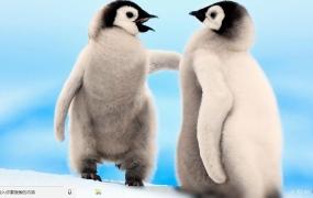 欢乐的企鹅 Win10主题